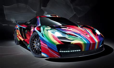 mclaren mp  supercar   psychedelic paint