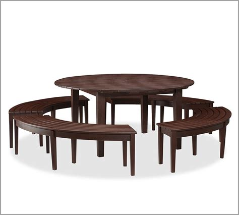 Dining Set Curved Dining Bench For Sit Comfortably