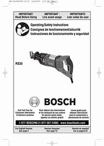 Bosch Rs35 Operating  Safety Instructions Manual Pdf