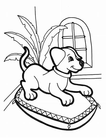 Coloring Pages Puppies Puppy Dogs Dog Children