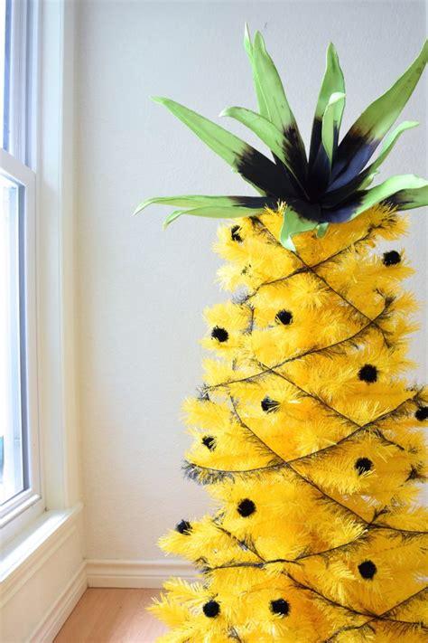 hawaiian designer christmas ornaments jen s pineapple tree treetopia