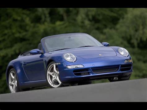 2007 Porsche 911 Carrera 4 Blue Front Angle Tilt