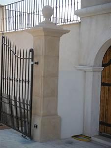 Pilier de portail Gordes ton pierre Toulon (Var)