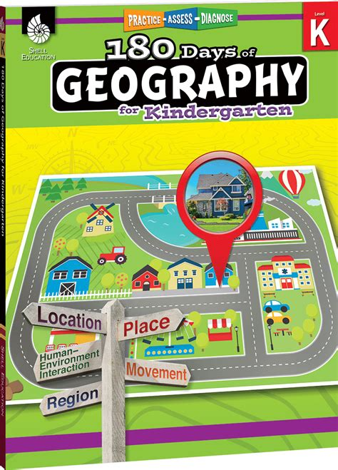 180 days of geography for kindergarten created 548 | 9781425833015