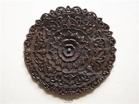 Buy Thai Traditional Lotus Carved Wood Wall Panel Online Contemporary Glass Coffee Tables Christian Liaigre Table How To Decorate A Round Vivarium Large Wicker Height Of Leather And Hammary Hidden Treasures Trunk