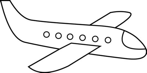 simple airplane line free clip