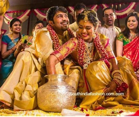 sreeja kalyan wedding south india fashion