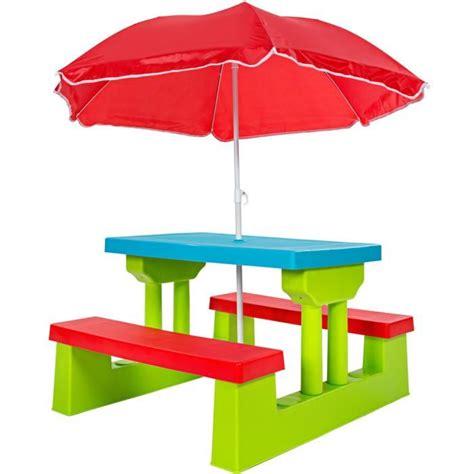 Ensemble De 2 Bancs Et 1 Table Pour Enfant, Table D