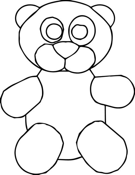 Cute Toy Bear Cartoon Coloring Page See the category to