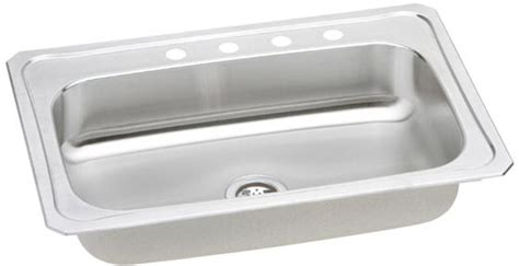 kitchen sink 33x22 elkay crs33223 33 inch top mount single bowl stainless 2553