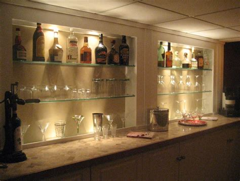 Home Bar Glass by Glass Bar Shelves Cave In 2019 Glass Bar