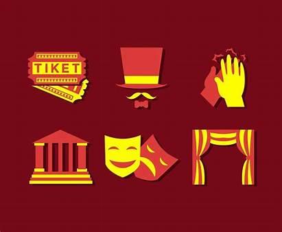 Theatre Vector Icons Freevector Cinema Vectors Cartoon