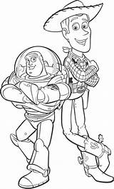 Woody Coloring Sheriff Buzz Lightyear Colouring Sheets Disney Animal sketch template