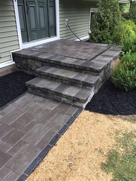 unilock retaining wall installation steps and retaining walls bring to your yard