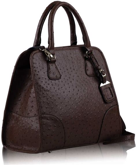 Leading supplier of coffee bags! Coffee Ostrich Ladies Fashion Tote