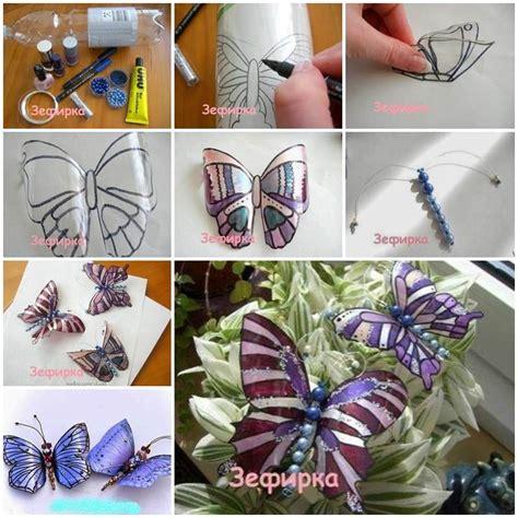 diy beautiful butterflies  plastic bottles