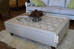 Coffee Tables Ideas Leather Brown Oversized Ottoman