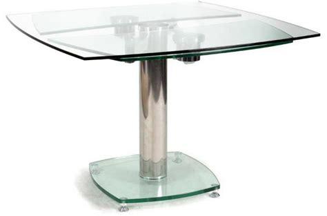 table de cuisine ronde pas cher table carrée avec allonges plateau verre transparent