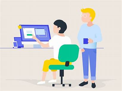 Tester Animation Person Dribbble Office Job Glasses