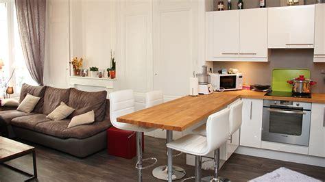 decoration cuisine americaine salon salon et cuisine ouverte cuisine en image