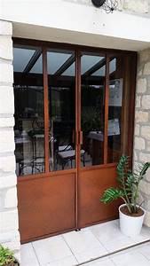 Verriere Interieure Metallique : verri re int rieure ext rieure couleur rouille ~ Premium-room.com Idées de Décoration