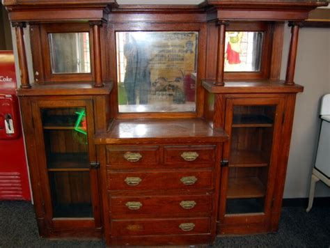 Antique Hutches And Sideboards by Antique 1910s Oak Built In Cabinet Hutch Buffet