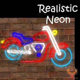 Second Life Marketplace Motorcycle Neon Sign