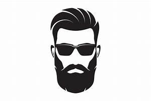 Bearded men face, hipster character. Vector illustration ...