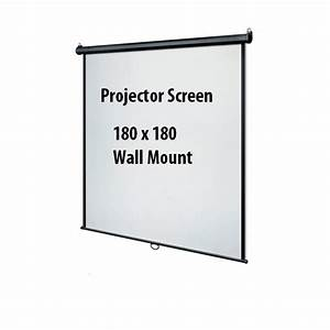 Projector Screen 180x180 Manual Wall Mount