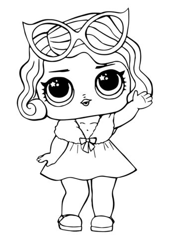 lol doll leading baby coloring page  printable coloring pages