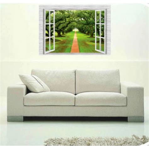 removable vinyl wall stickers fake window home decor wall
