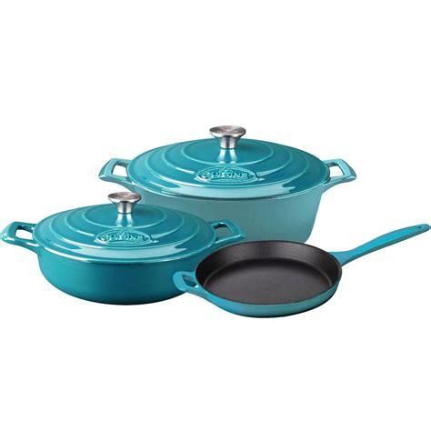 cuisine pro la cuisine pro 5 enameled cast iron cookware set