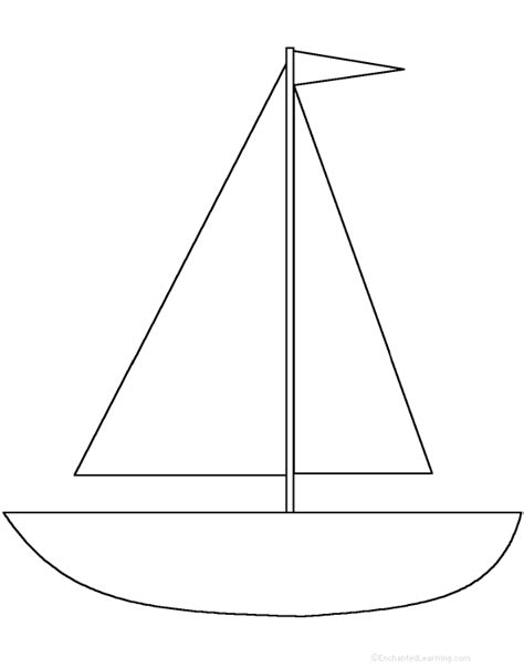 sailboat template boats at enchantedlearning
