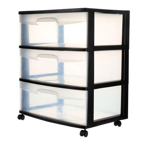 Sterilite 3 Drawer Wide Cart - sterilite 21 88 in 3 drawer wide cart 1 pack 29309001