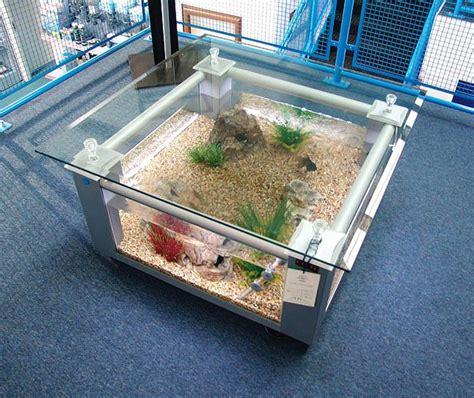 Silver coffee table aquarium   Glass Fish Tanks