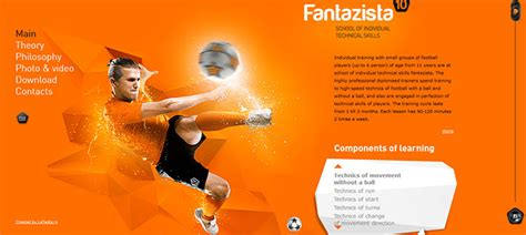 modern sport web designs inspiration web graphic