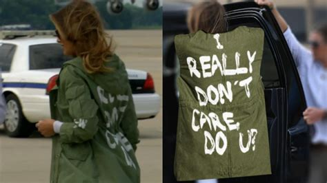 melania jacket care trump really don dont why wear did