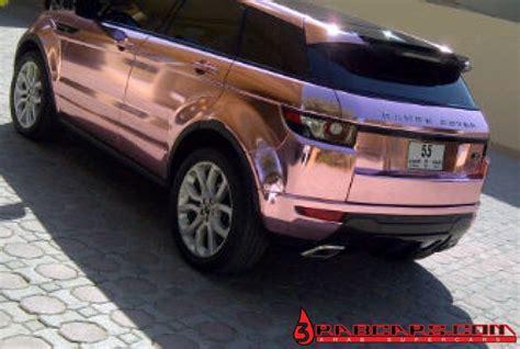 range rover rose pink chrome range rover evoque foiled in diablo private