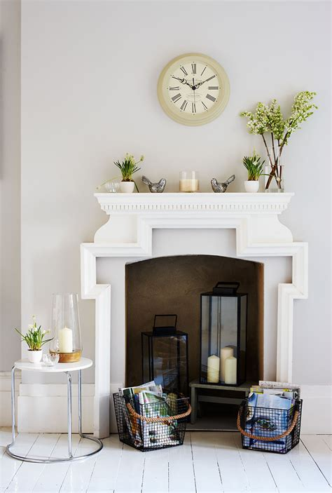 empty fireplace decorations creative ways to decorate a non working fireplace sainsbury s home sainsbury s home