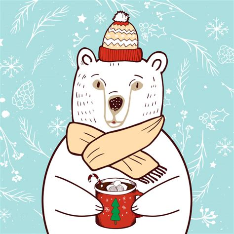 Freesvg.org offers free vector images in svg format with creative commons 0 license (public domain). Polar bear in red hat. merry christmas and happy new year ...