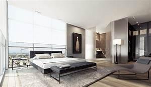 1 black white gray bedroom decor interior design ideas for Interior design black white grey