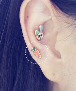 HiUnni Ear cartilage Piercings - Non-Jeweled Barbells