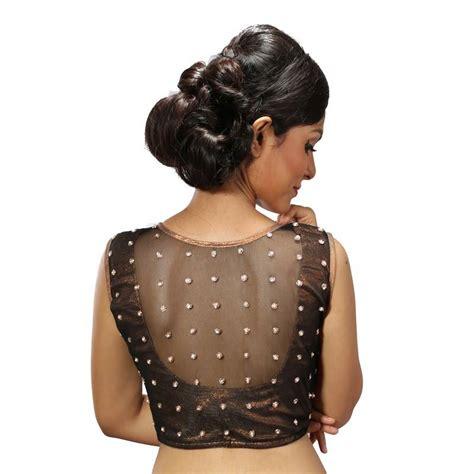 buy black net handwork blouse