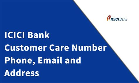 Check spelling or type a new query. ICICI Bank Customer Care Number, Phone, Email and Address - Customer Care Number