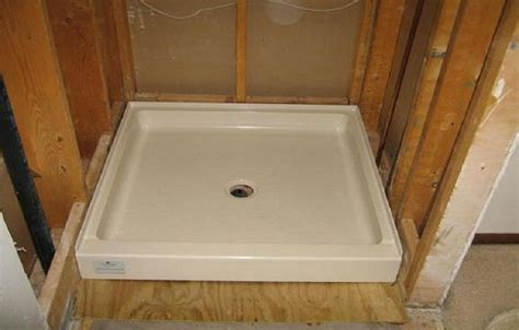Shower Pans Installation Lr Standard Size Shower Pan Picture Shower Pans