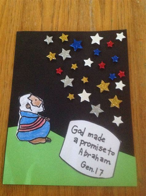 god made a promise to abraham craft by let bible crafts 600 | 30a5425f5d9ec6dcf2e5e04ba6ada081