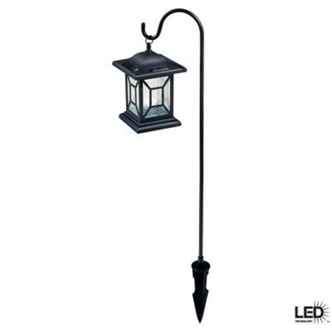 hton bay black solar led outdoor lantern 2