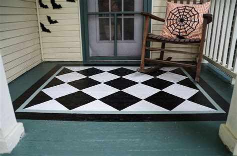 Hometalk   How To Paint A Diamond Rug