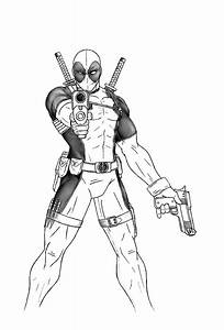 Deadpool Full Body Coloring Pages