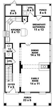 narrow lot floor plans 653584 2 story traditional plan for a narrow